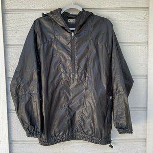 Kith Black Hooded Jacket Half Zip Pullover Windbreaker Men's Size Small